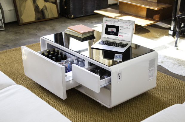 Sobro The Smart Coffee Table With A Built In Fridge And Speakers Nechstar