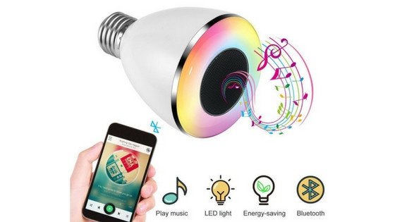 LESHP Bluetooth Light Bulb Speaker