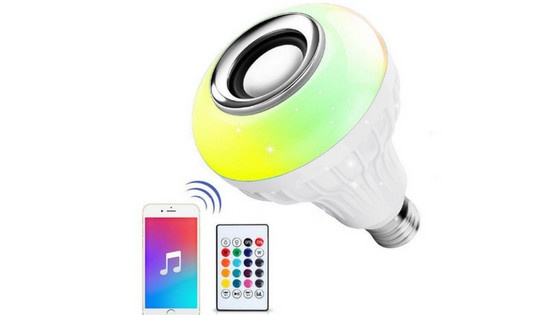 Ustellar LED Wireless Light Bulb Speaker