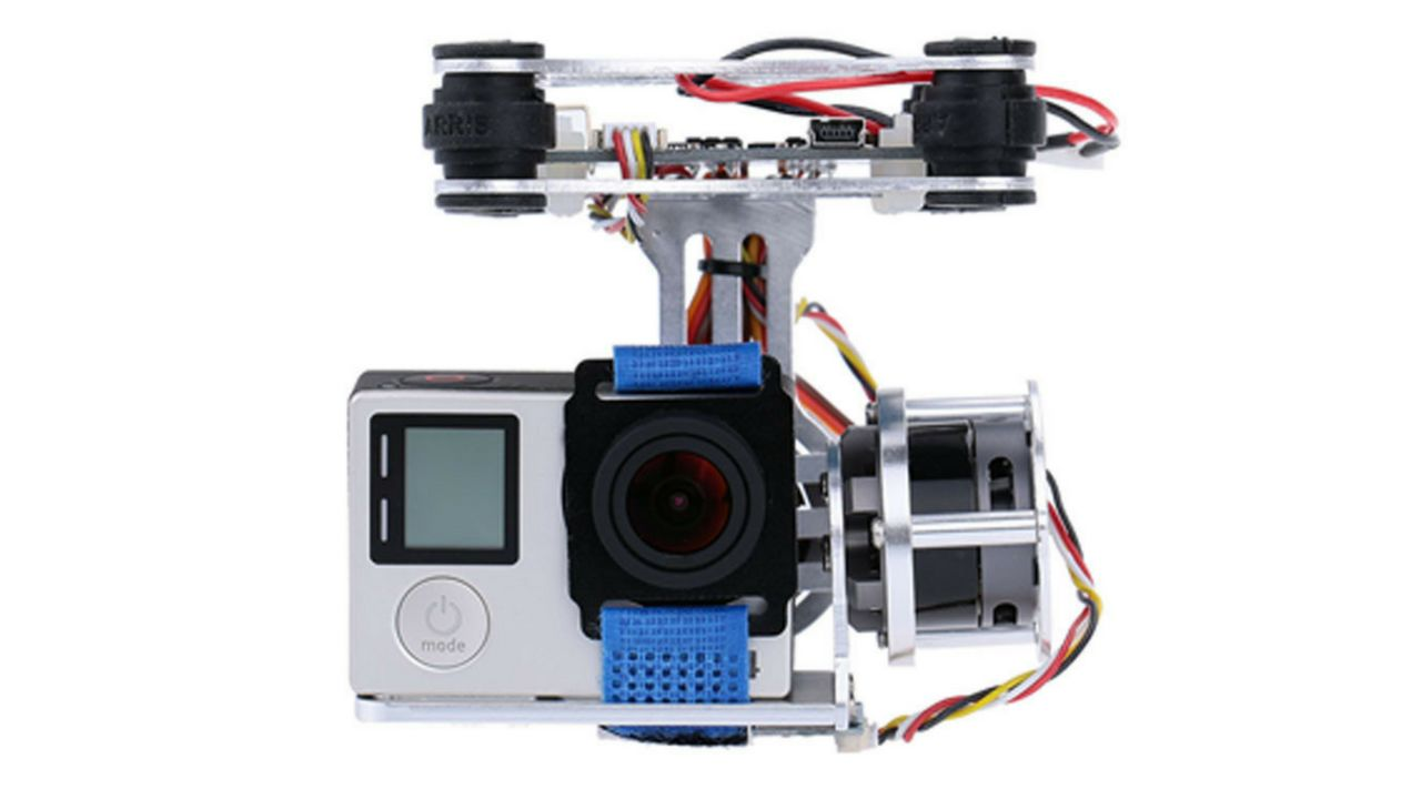 GoolRC 2D Light Weight Silver Brushless Motor Gimbal