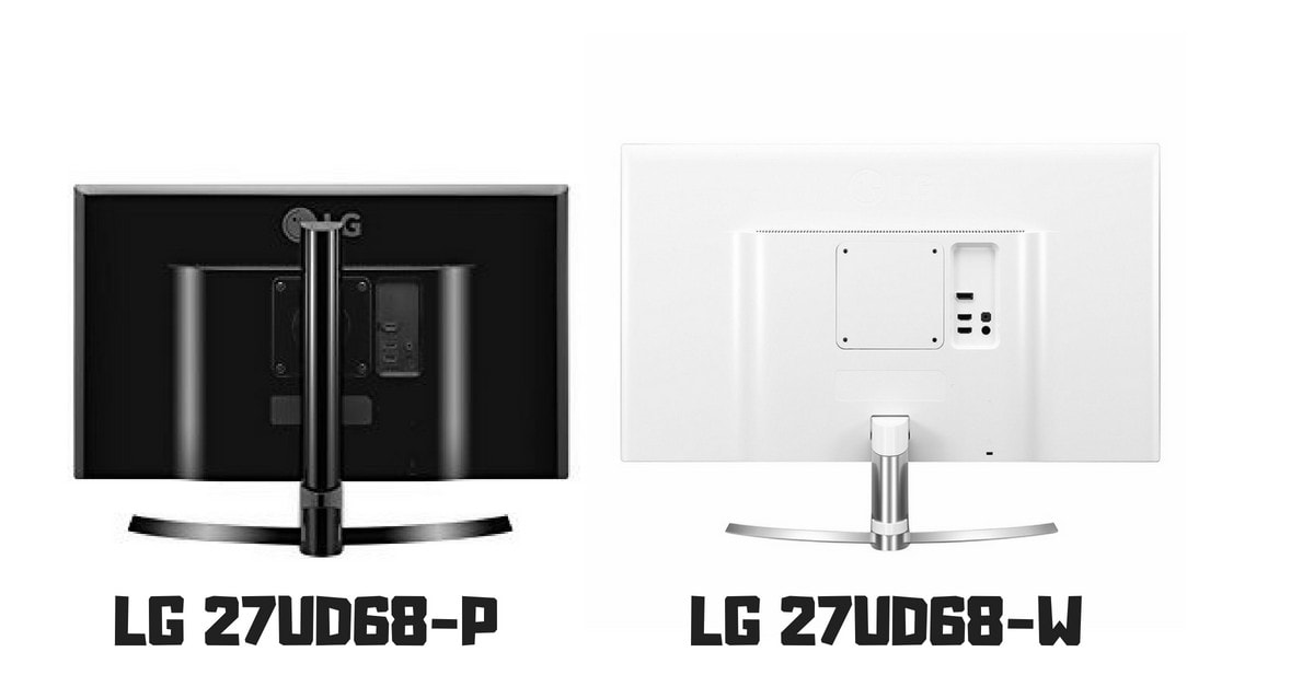 LG 27UD68-P vs LG 27UD68-W difference