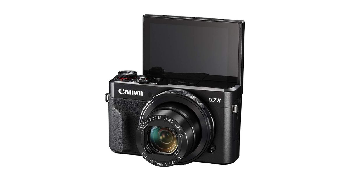 Canon G7X Mark II - Best Camera With Flip Screen