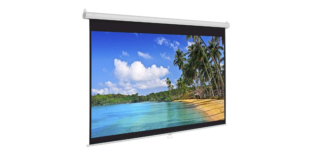 Best Choice Products 119in Ultra HD wall mounted projector screen