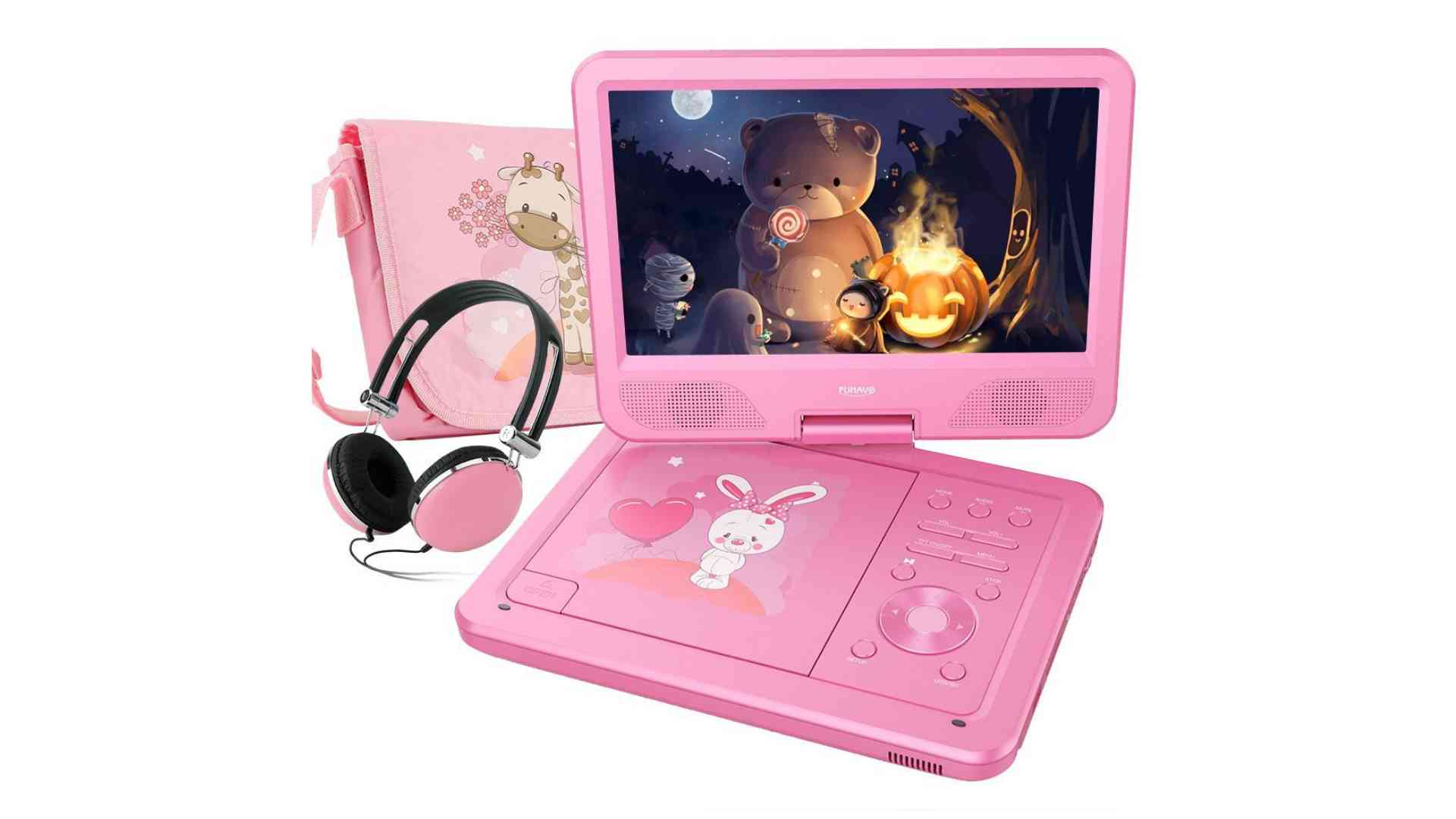 "FUNAVO 10.5"" Portable DVD Player with Headphone"