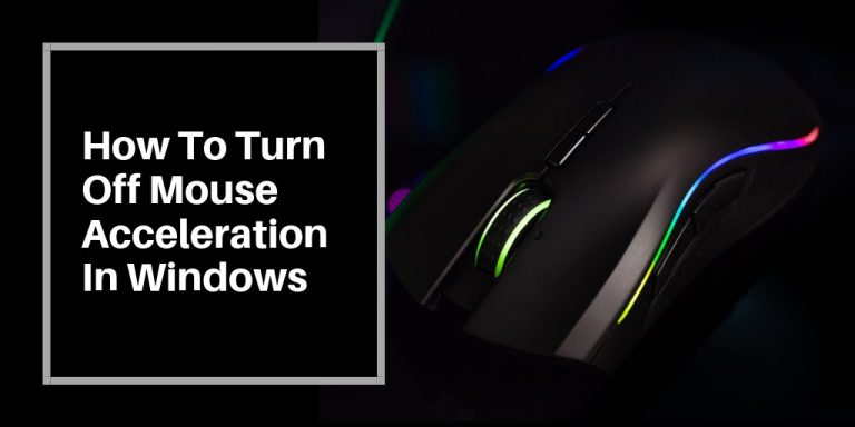 Turn off your mouse acceleration in Windows 7, 8, 10