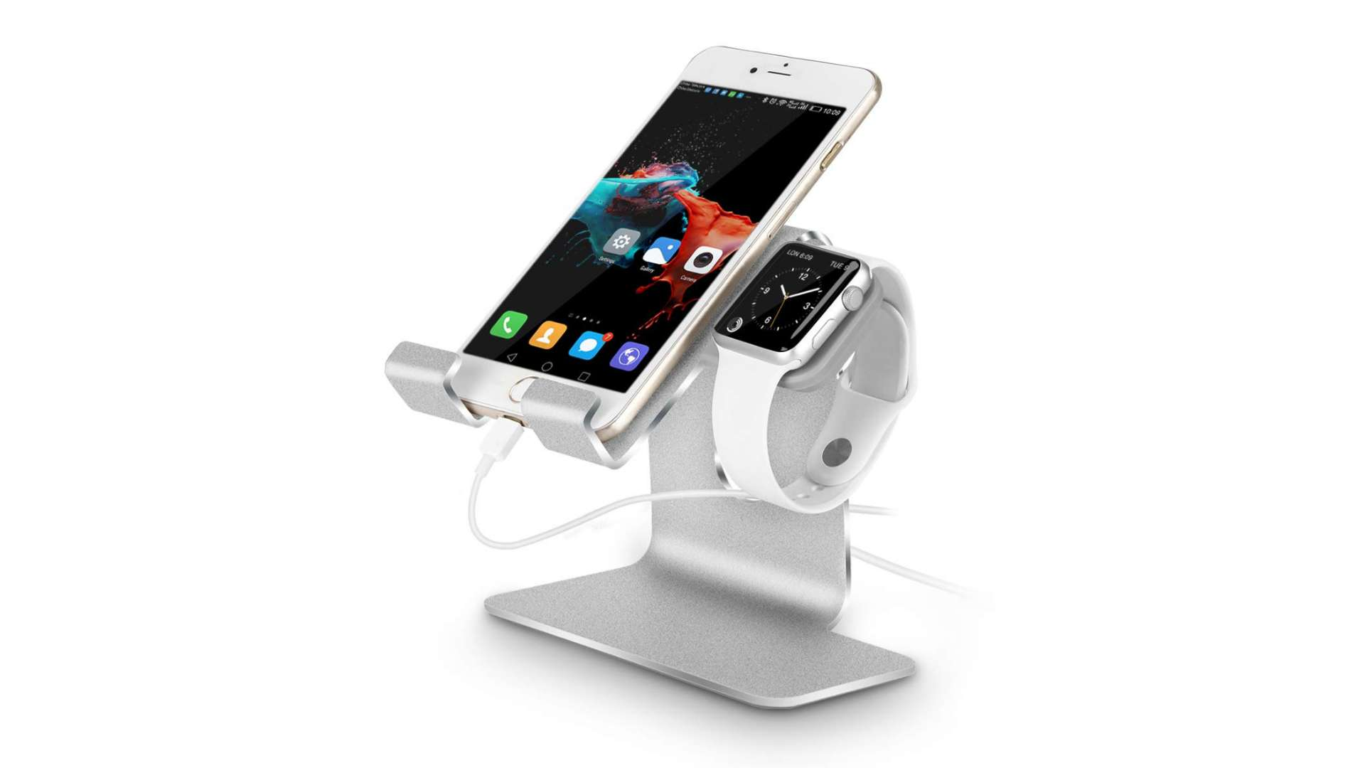 Tranesca 2-in-1 Charging Stand For Apple Watch
