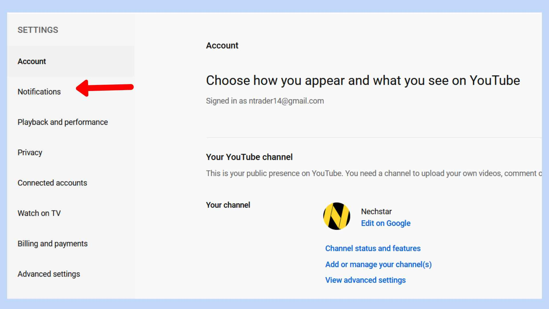 Turn Off Email Notifications From YouTube