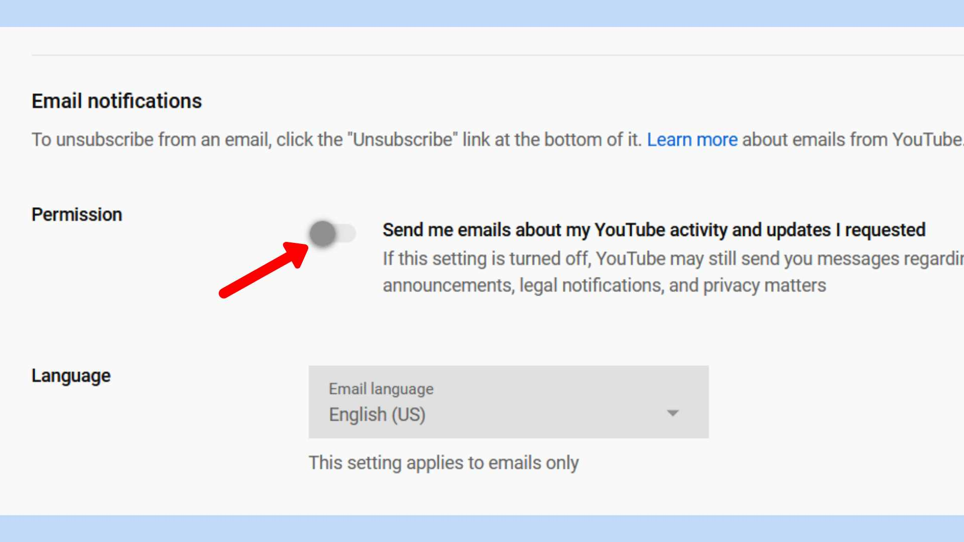 Unsubscribe Email YouTube