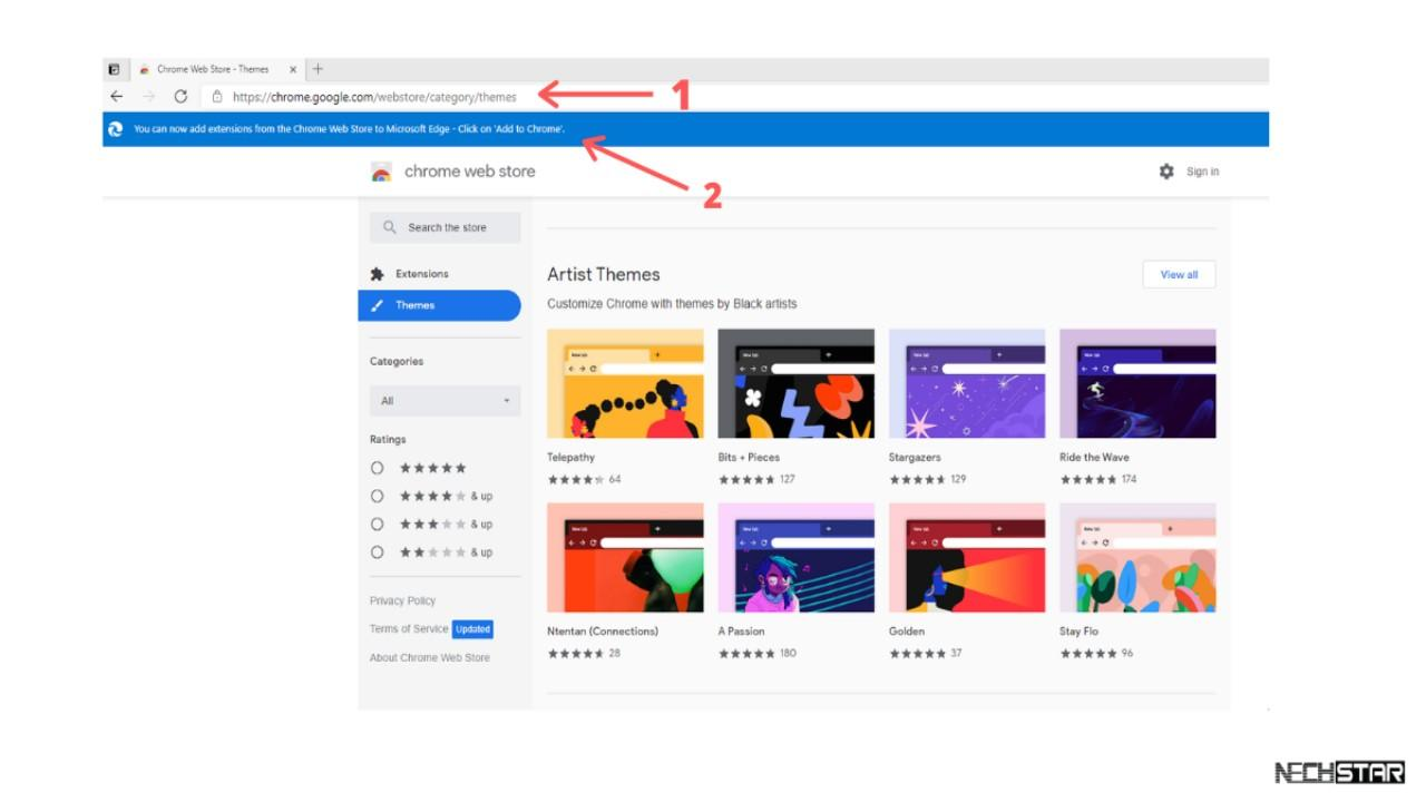 How to Install Google Chrome Themes in Microsoft Edge