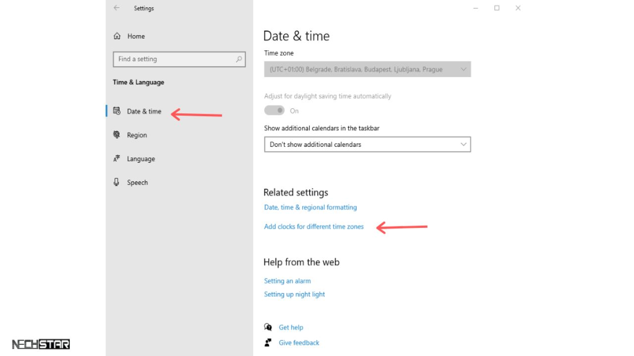 How to Add Extra Clocks for Different Time Zones in Windows 10